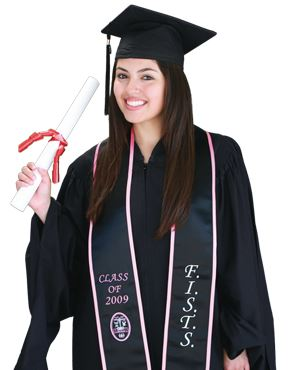 Pride Graduation Sash - Model Image