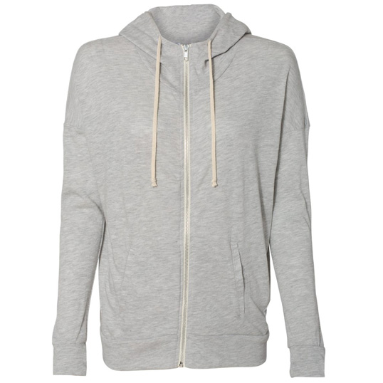 02896E1 Alternative Apparel Cool Down Eco-Jersey Zip Hoodie