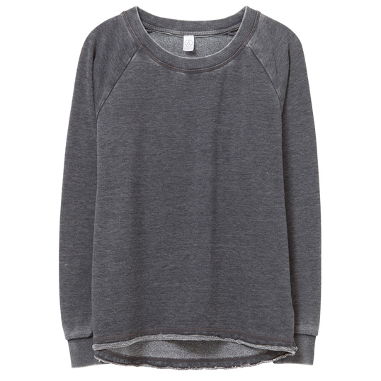 08626FH Alternative Apparel Lazy Day Burnout French Terry Pullover Sweatshirt