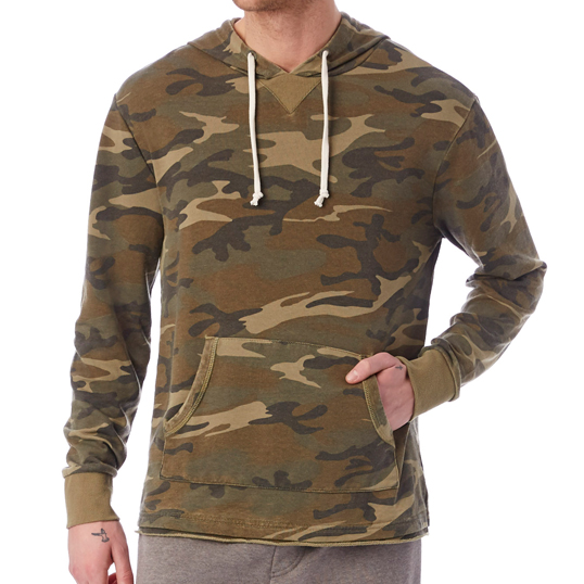 Alternative Apparel French Terry Burnout Hoodie 08629FJ