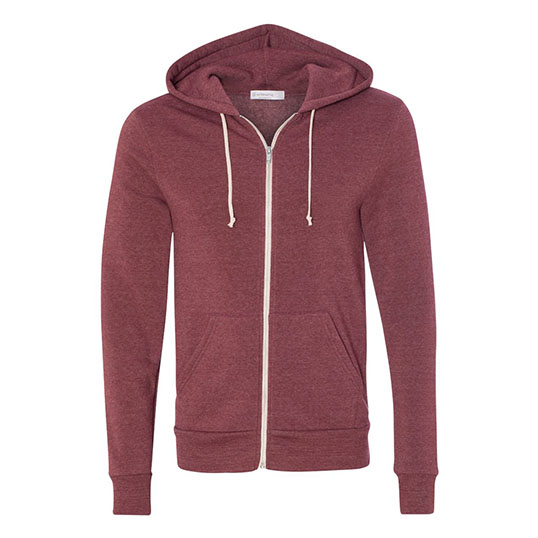 Alternative Apparel Rocky Eco-Fleece Zip Hoodie 09590f2