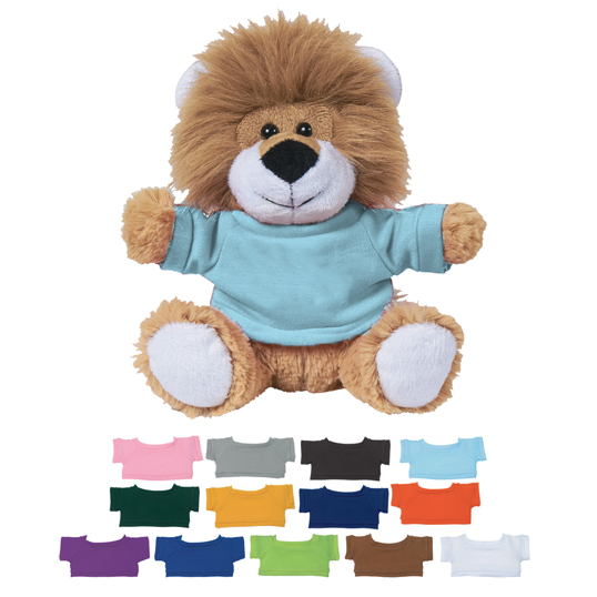 1266p 6 Inch Lovable Lion With Custom Box
