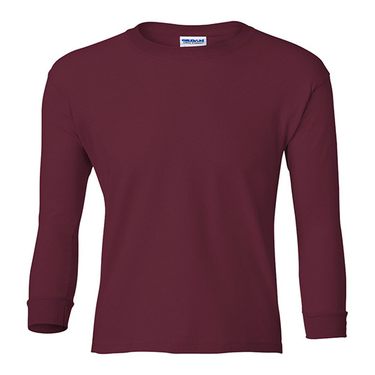 2400B Gildan Youth Ultra Cotton Long Sleeve T-Shirt