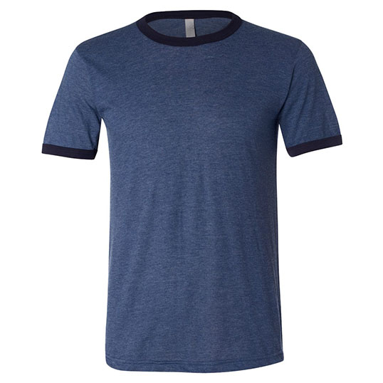 3055 bella+canvas men's jersey short sleeve ringer tee