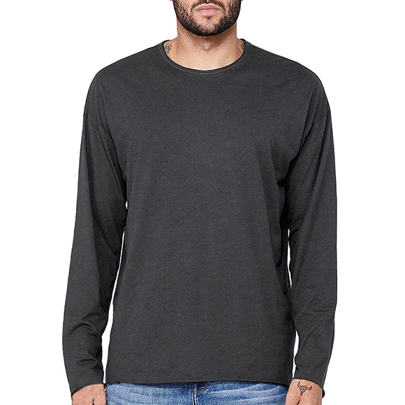 3416 Bella + Canvas Triblend Raw Neck Long Sleeve T-Shirt