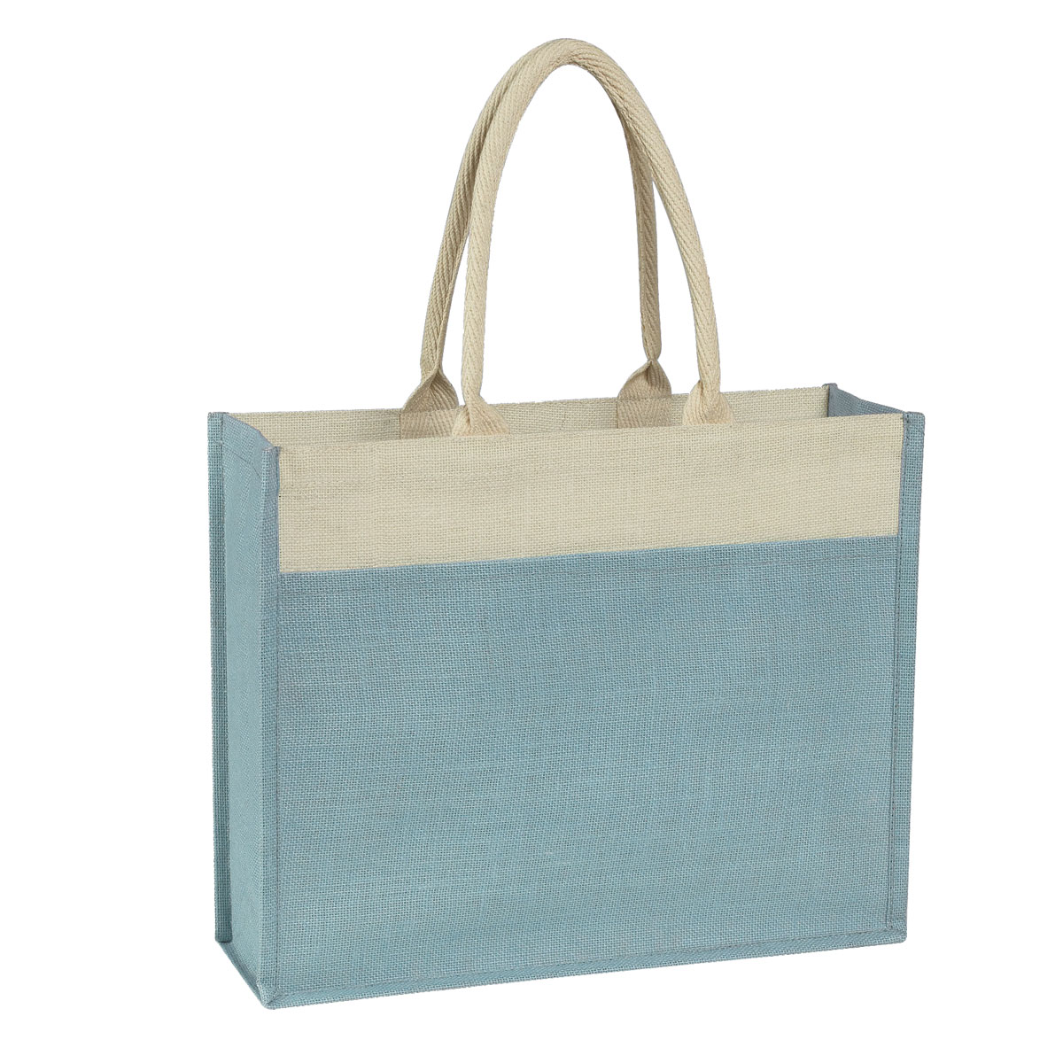 3617 Jute Tote Bag With Front Pocket