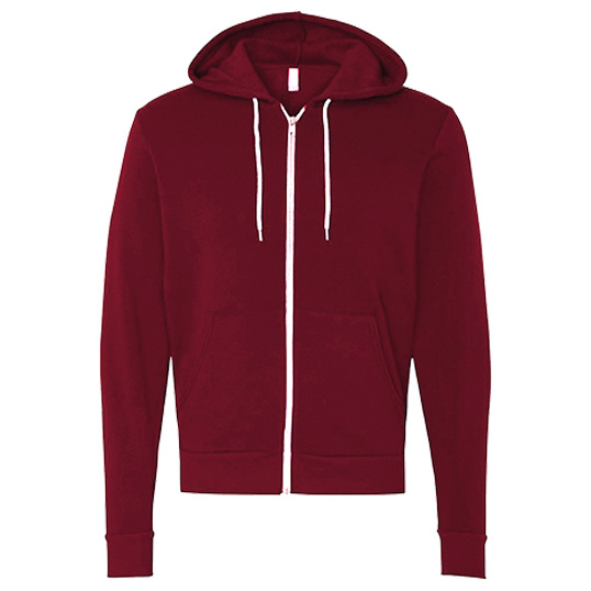Bella + Canvas Unisex Fleece Full-Zip Hoodie 3739