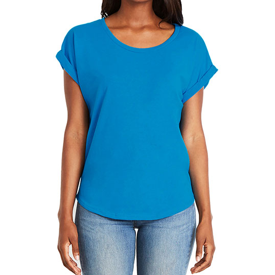 6360 Next Level Ladies Dolman with Rolled Sleeves