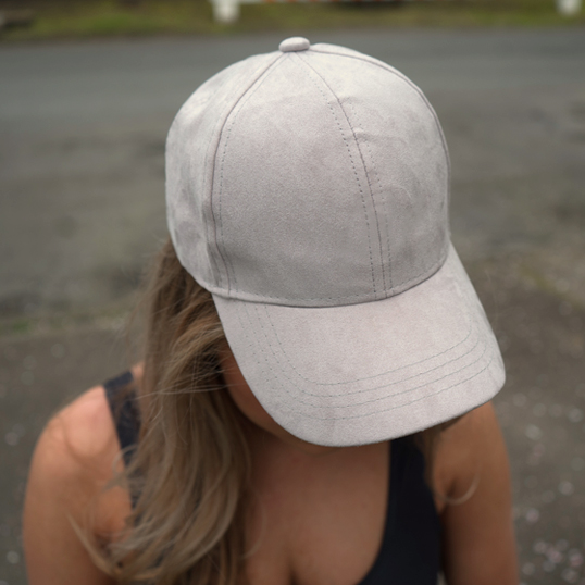 August Caps Suede Dad Baseball Cap With Slider Buckle