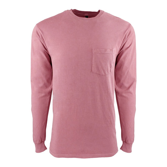 7451 Next Level Apparel Inspired Dye Long Sleeve Pocket Crew