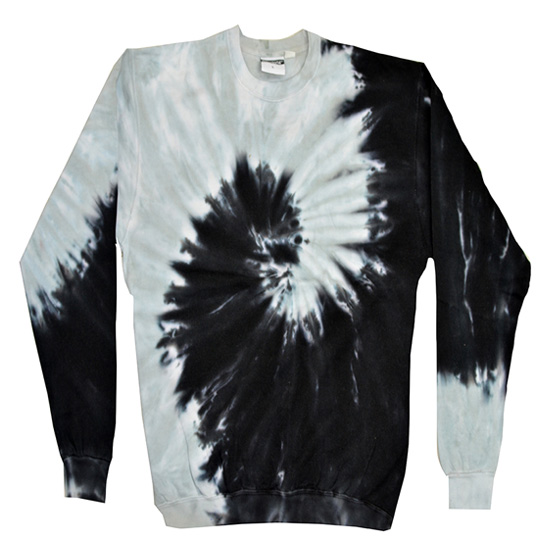 8100 colortone crewneck reactive dyed pullover