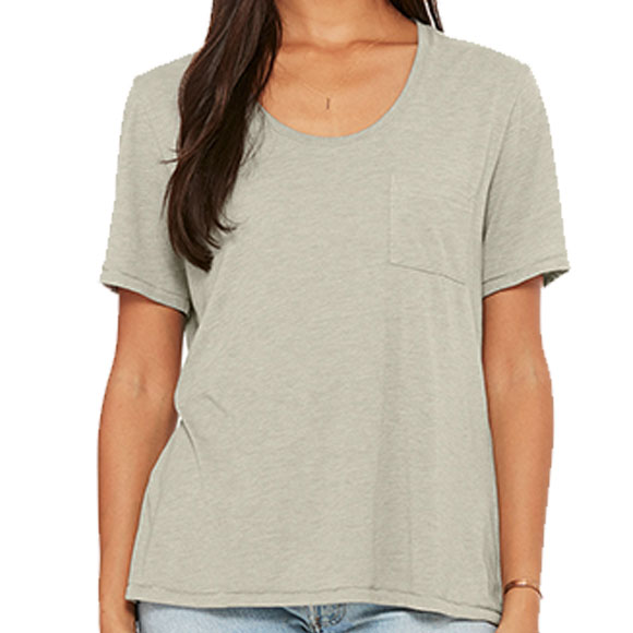 8818 Bella Women's Flowy Pocket Tee