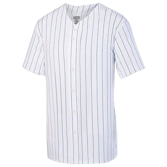 1685 Pinstripe Full Button Baseball Jersey