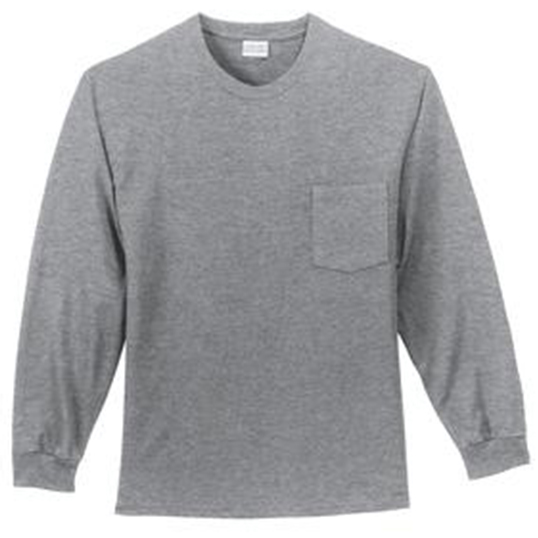 PC61LSP Port & Company Long Sleeve Essential T-Shirt with Pocket
