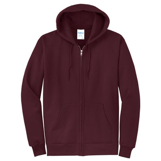 PC78ZH Port & Company Core Fleece Full Zip Hooded Sweatshirt
