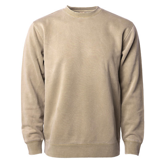 PRM3500 Independent Trading Co. Unisex Midweight Pigment Dyed Crew Neck