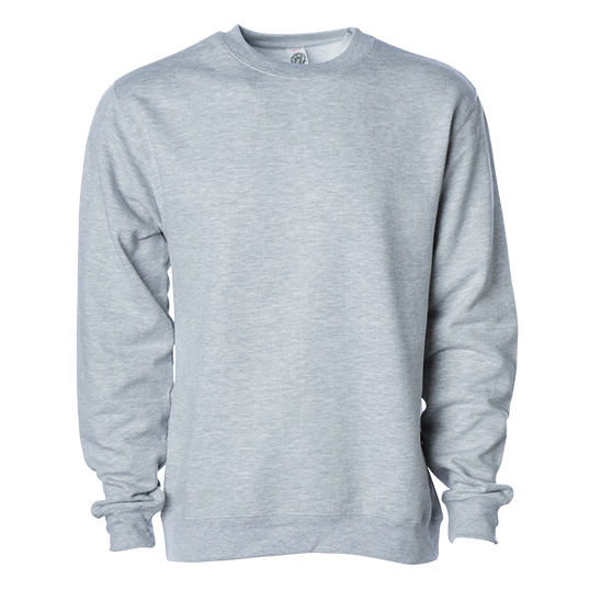 SS3000 Independent Trading Co Midweight Crewneck Sweatshirt