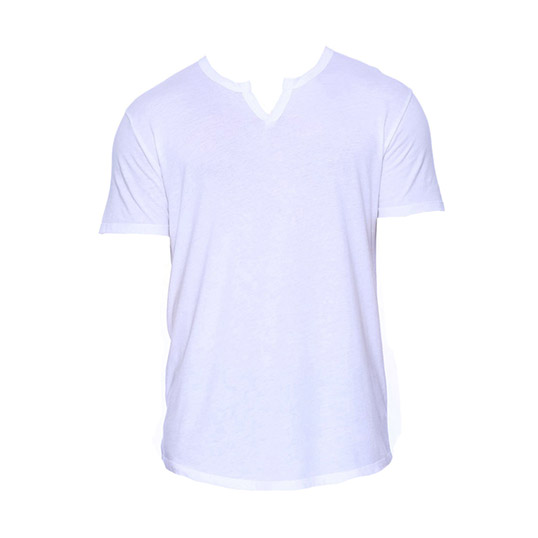 ST2422 StarTee Drop Ship Men's 4.3 oz., CVC Slit V-Neck T-Shirt