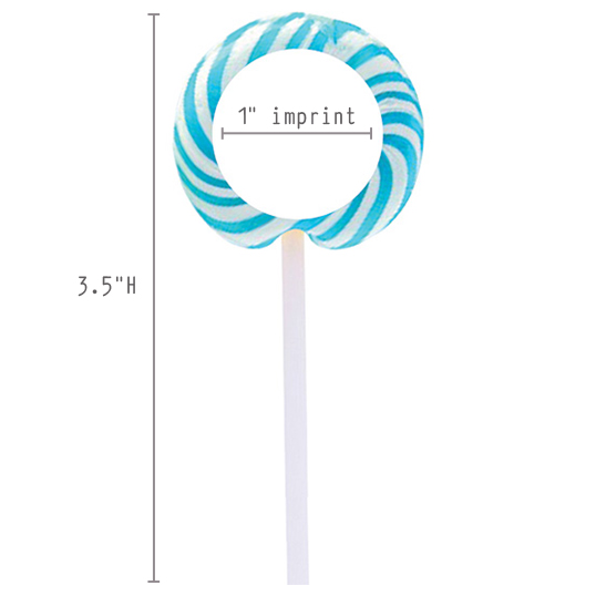 SWIRLPOP1 Swirl Lollipop with Round Label
