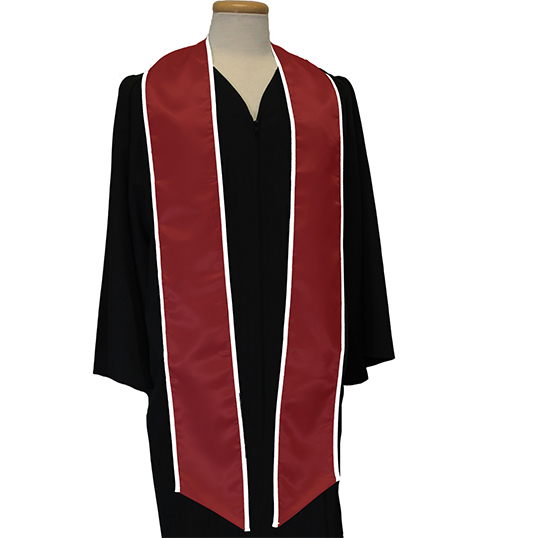 Graduation Sash with Binded Edge