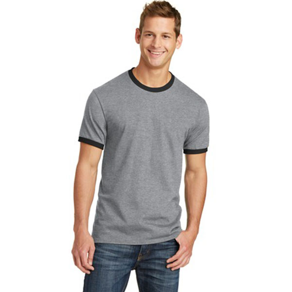 port and company core cotton ringer tee pc54r - Model Image