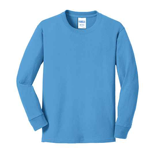 PC54YLS Port & Company Youth Long Sleeve Core Cotton Tee